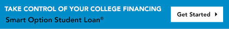 Take control of your college financing. Get started. smart option student loan